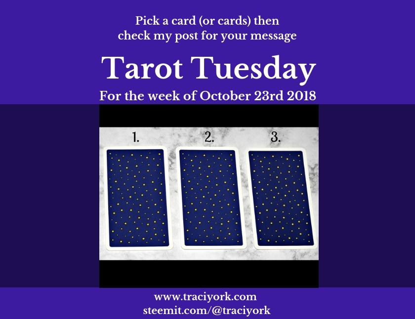 October 23rd 2018 Tarot Tuesday blog thumbnail