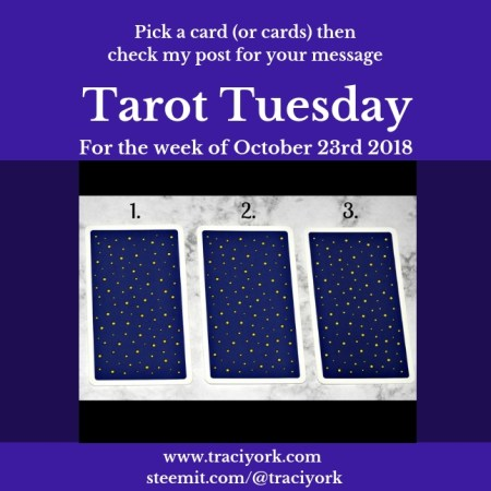 October 23rd 2018 Tarot Tuesday blog thumbnail