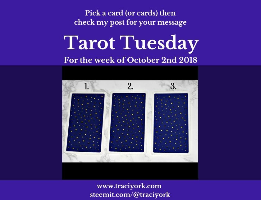 October 2nd 2018 Tarot Tuesday blog thumbnail
