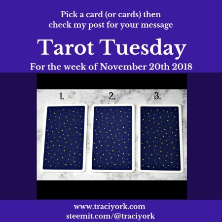 November 20 2018 Tarot Tuesday blog thumbnail