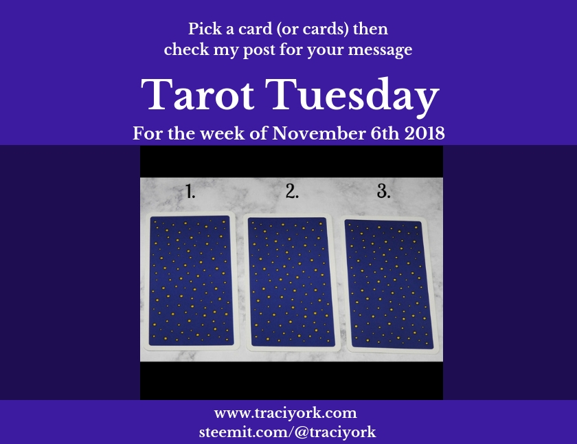 November 6 2018 Tarot Tuesday blog thumbnail