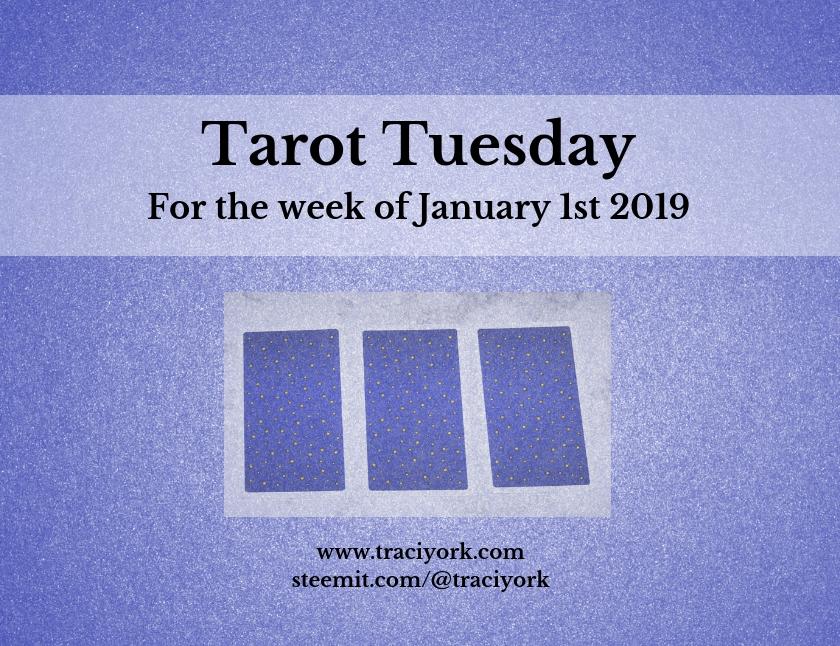 January 1 2019 Tarot Tuesday new years colors blog thumbnail