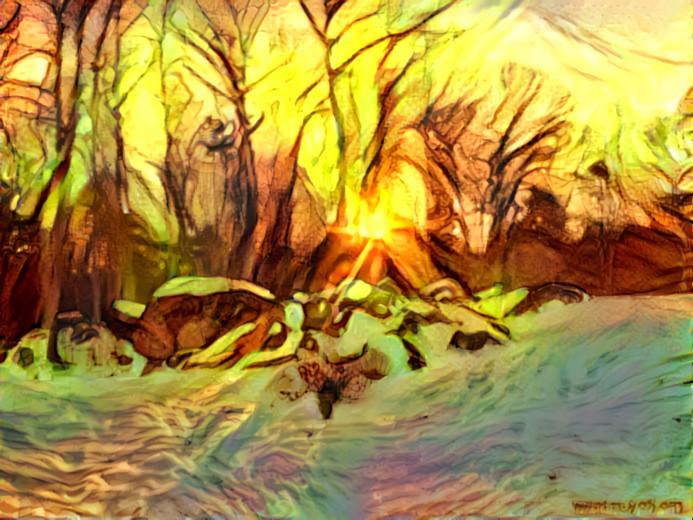 Seven Deep Dream Suns