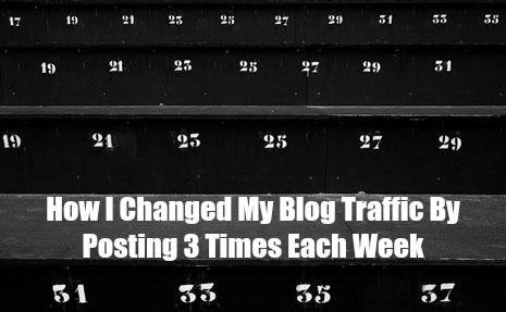 Numbers Don't Lie: How Blogging 3 Times a Week Changed My Blog Traffic