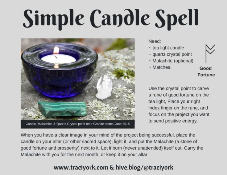 Simple Candle Spell 2020 Instagram version