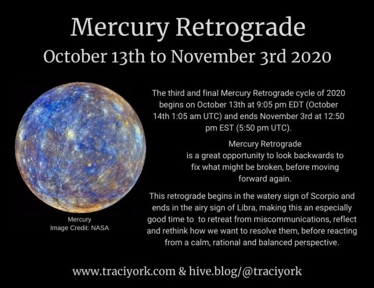 Mercury Retrograde October 2020 Instagram version