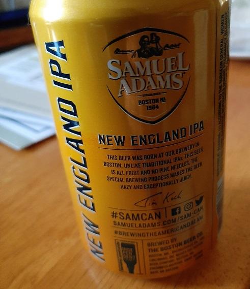 the #BeerSaturday challenge Sam Adams New England IPA