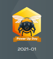 Hive Buzz Badge  HivePUD January 1 2021