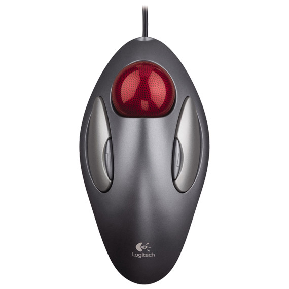 Image result for Logitech Trackball Mouse - Clean and Easy