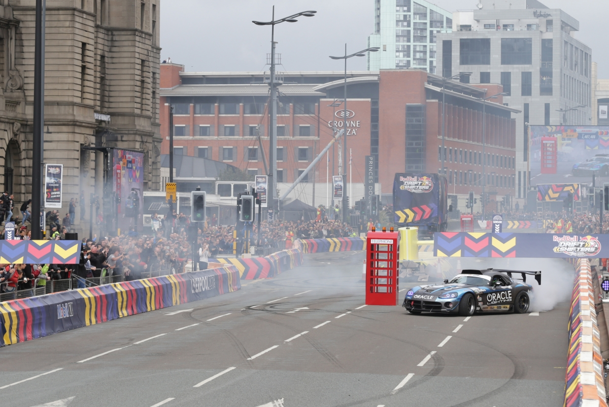 Red Bull Drift Shifters Come To LIverpool Track Car