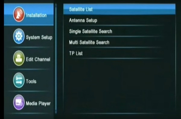 Installation-Satellite-list