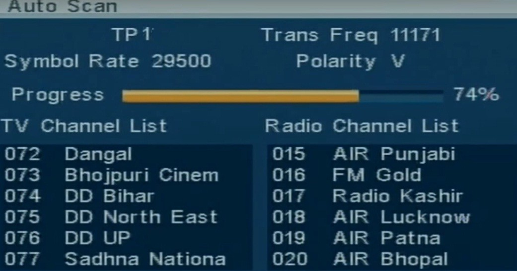 How to retune your DD Free Dish iCAS enabled MPEG-4 Set Top