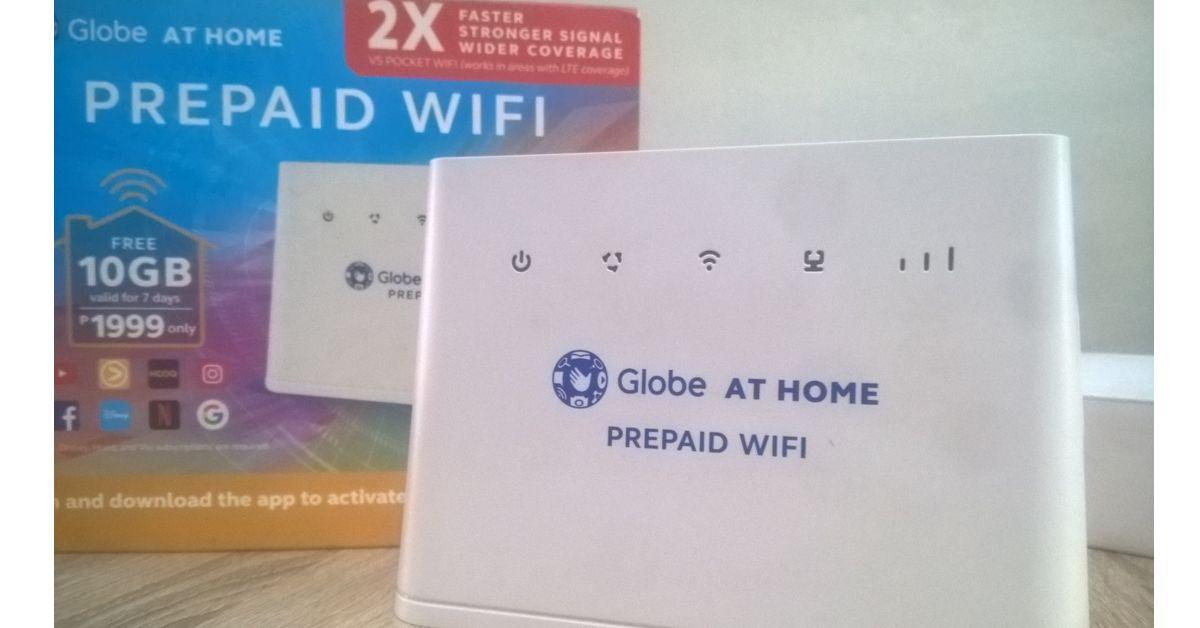 Globe at Home Prepaid Wi-Fi modem