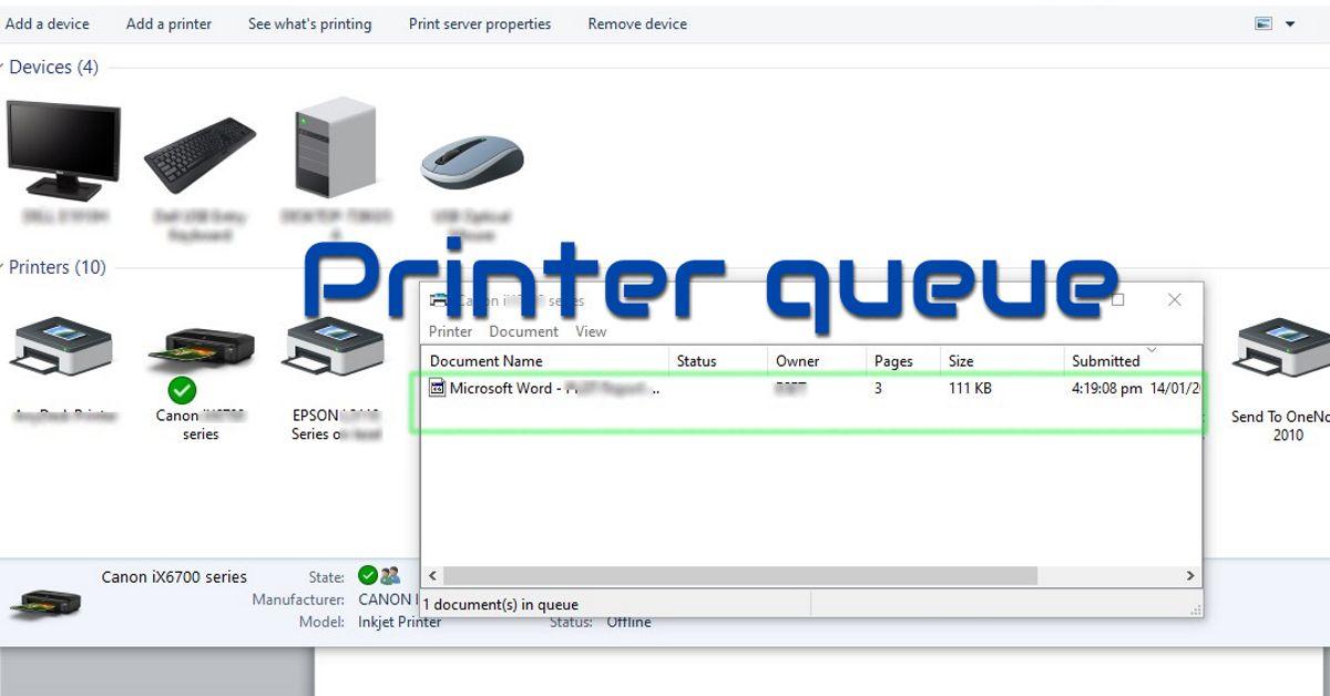 Clear Printer Queue