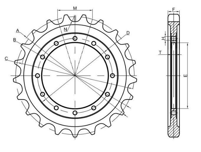 Excavator Sprocket For Caterpillar Suppliers