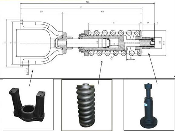 Kobelco SK200 350 Excavator Track Adjuster Suppliers