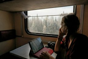Blogging in the train