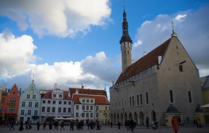 Medieval square in the old town of Tallinn