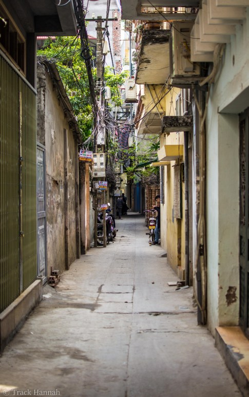 Wandering through the tiny streets of Hanoi
