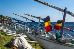 Fishing boats in Amed