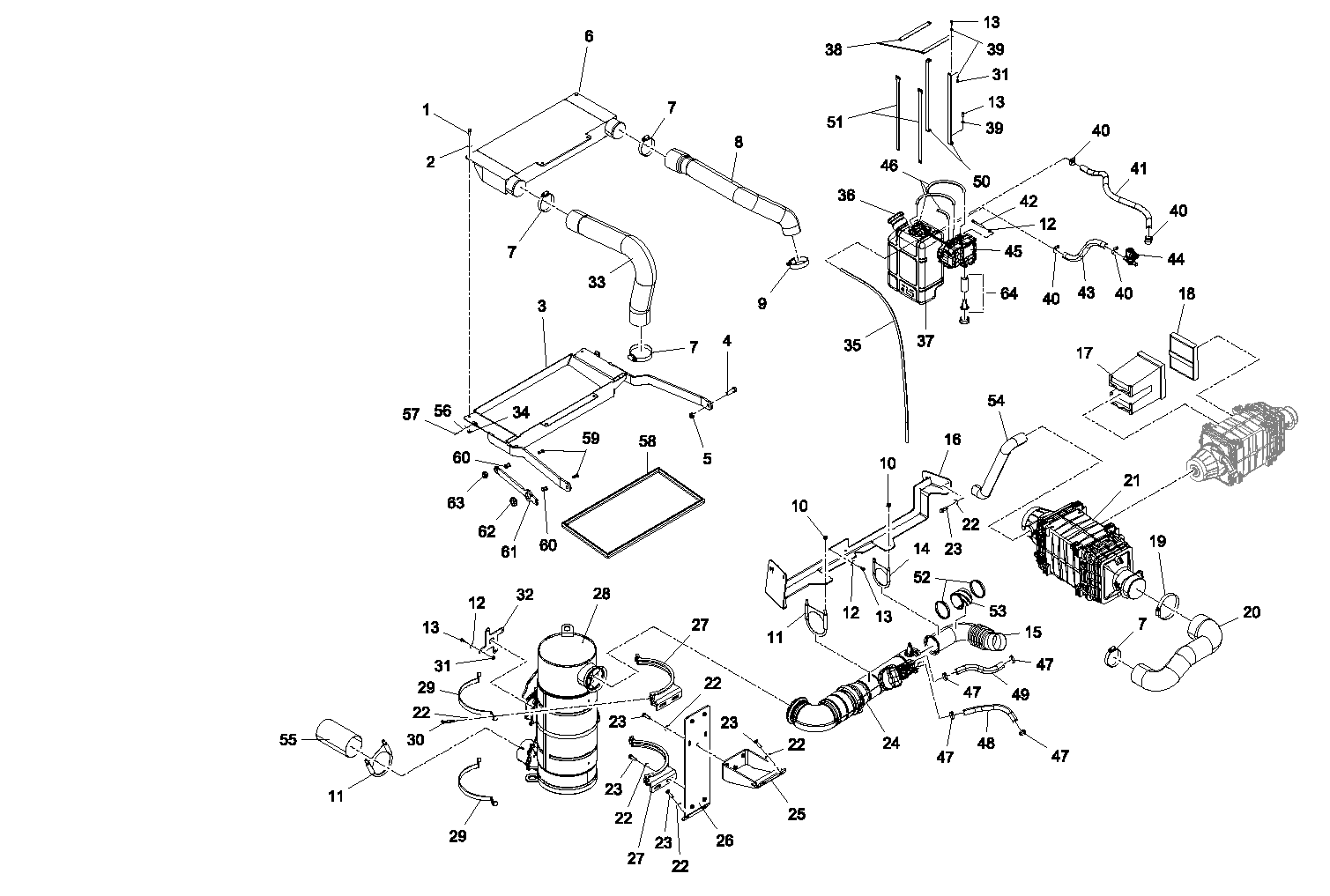 ASV RT120 Forestry OEM Parts Diagrams