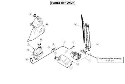 ASV RT110 Forestry OEM Parts Diagrams