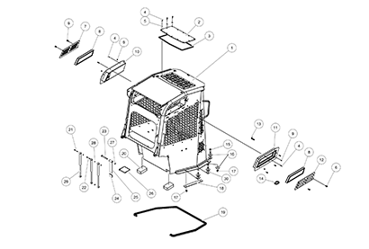 Terex PT100 Forestry OEM Parts Diagrams