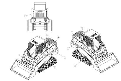 Terex R190T OEM Parts Diagrams