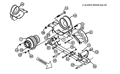 Cat 257 MTL OEM Undercarriage Parts Diagrams