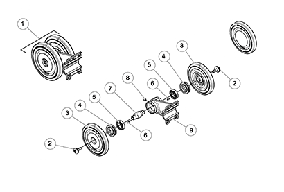 Cat 277C2 MTL OEM Undercarriage Parts Diagrams