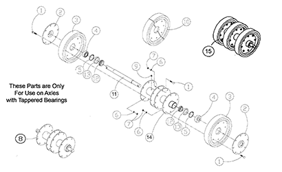 Cat 267 MTL OEM Undercarriage Parts Diagrams