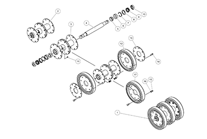 Cat 287B MTL OEM Undercarriage Parts Diagrams