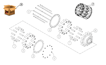 Cat 287 MTL OEM Undercarriage Parts Diagrams