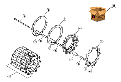 Cat 297D MTL OEM Undercarriage Parts Diagrams