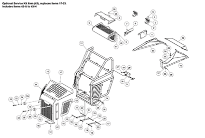 Terex PT100G Forestry OEM Parts Diagrams