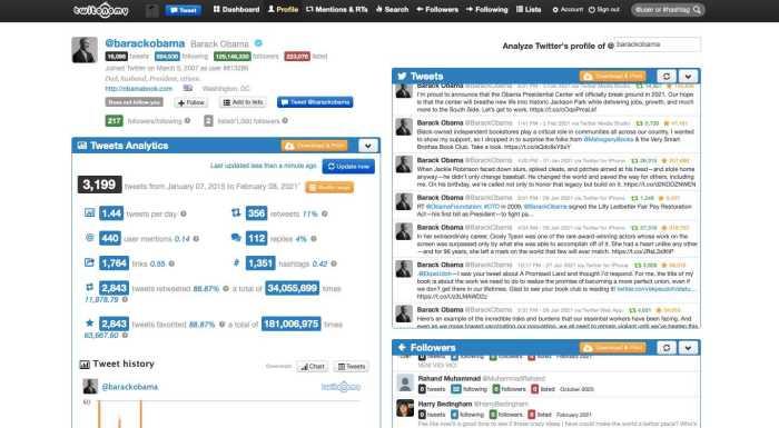 Twitonomy free Twitter analytics tool
