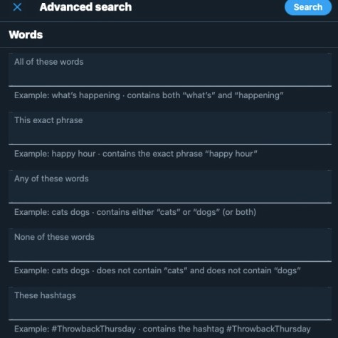 How to use Twitter advanced search