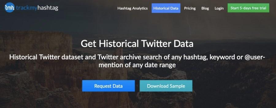 Download historical Twitter datasets