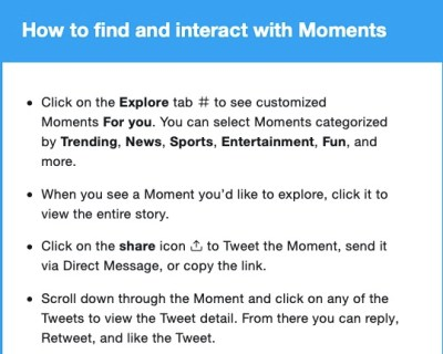 Use Twitter moments