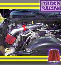 details about 00 01 02 03 04 10 dodge dakota durango ram 1500 v6 v8 air intake kit red s [ 1200 x 1200 Pixel ]