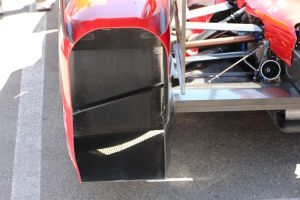 Here is the rear wheel guard on a Chevy (Ganassi in this case)