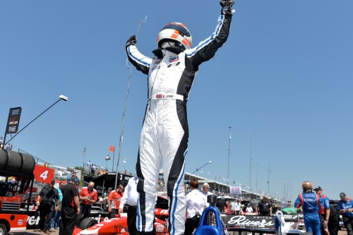 Can Carlin's Ed Jones score a third straight Indy Lights victory and increase his championship lead.  (Photo courtesy of Indianapolis Motor Speedway, LLC Photography)