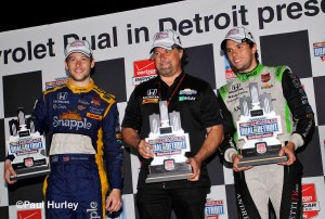 Marco, Michael and Munoz celebrate and Andretti 1-2