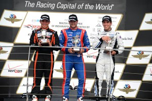 2015 Indy Lights Indy Race One Podium