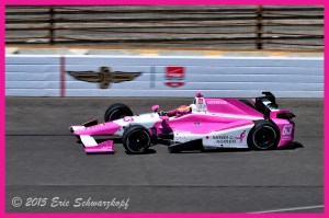 Pippa Mann before her big moment this afternoon