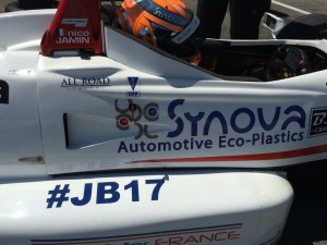 Nico Jamin will be honoring his Jules Bianchi this weekend.  (Photo Courtesy of Nico Jamin)