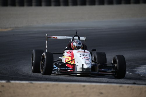 John Cummiskey Racing's rookie Anthony Martin makes his way around Mazda Raceway Laguna Seca