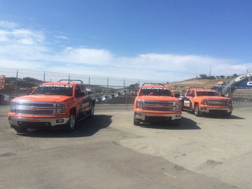 The familiar orange and black Chevrolets of the Holmatro Safety Team made the trip to Mazda Raceway Laguna Seca for the Mazda Road To Indy  finales (photo by Steve Wittich)