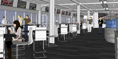 What the new Hulman Terrace Club will look like (Image courtesy of Indianapolis Motor Speedway)