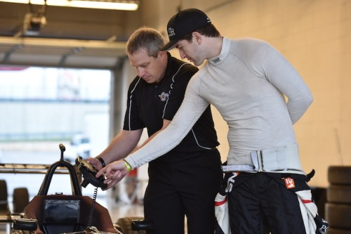 After spending two seasons with Team Pelfrey, Rickards works hard to get comfortable with his new Pabst Racing team. (Photo courtesy of Indianapolis Motor Speedway, LLC Photography)